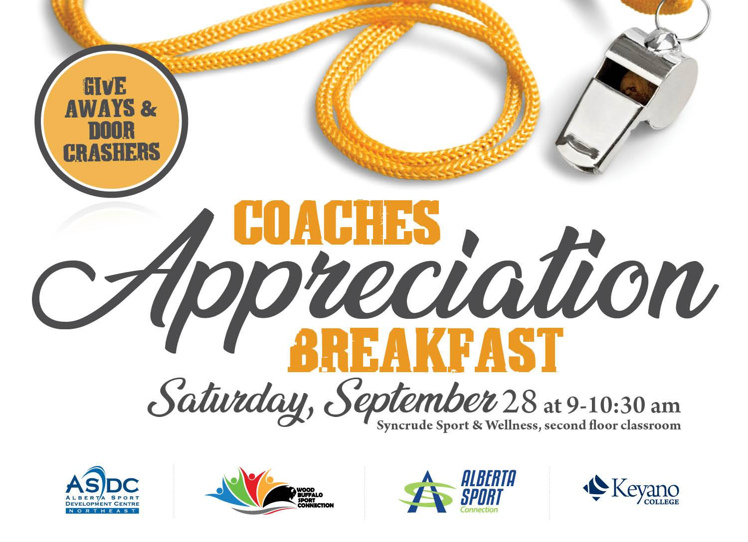Poster of Coach appreciation event