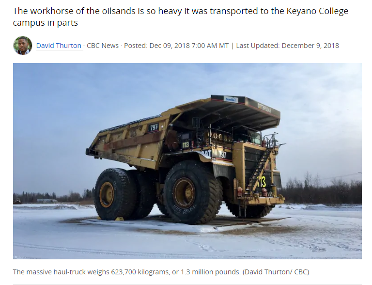 picture of haul truck from cbc article