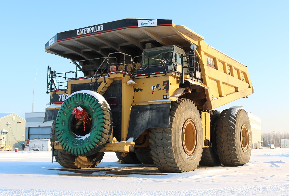 haul truck parked