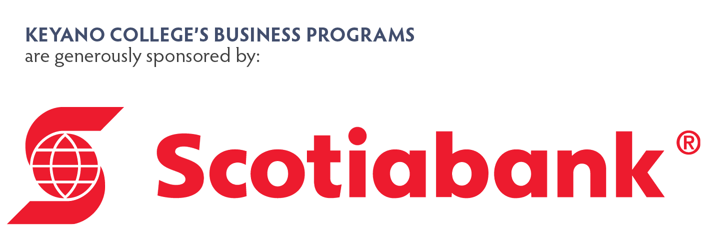 Picture of scotiabank logo for sponsoring the business program