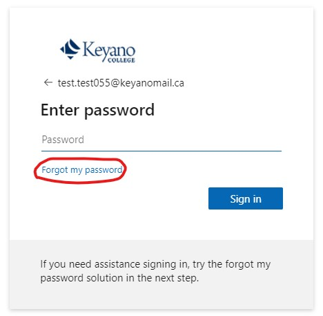 Click on Forgot password
