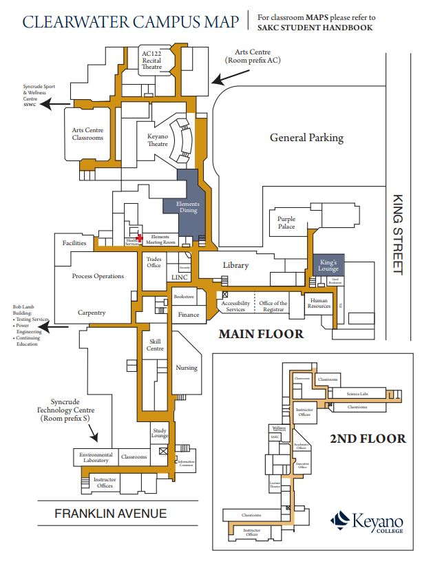 clearwater campus map